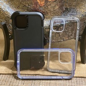 One otter box iPhone 11pro and two lifeproof